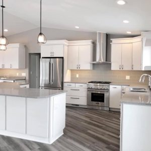 Countertops Fabricated and Installed by Cameo Countertops, Inc. in Caesarstone Turbine Grey